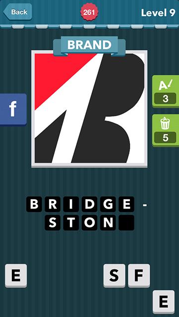 Icomania Answer Level 9 Bridgestone brand: red triangle, white, black ...
