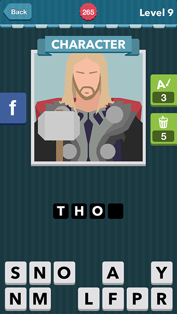Icomania Answer Level 9 Thor character: man with brown long hair ...